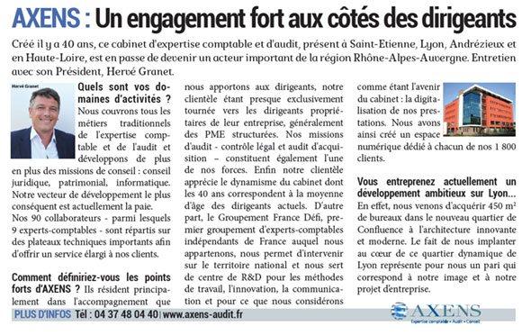 Interview axens Hervé Granet Magazine Entreprendre