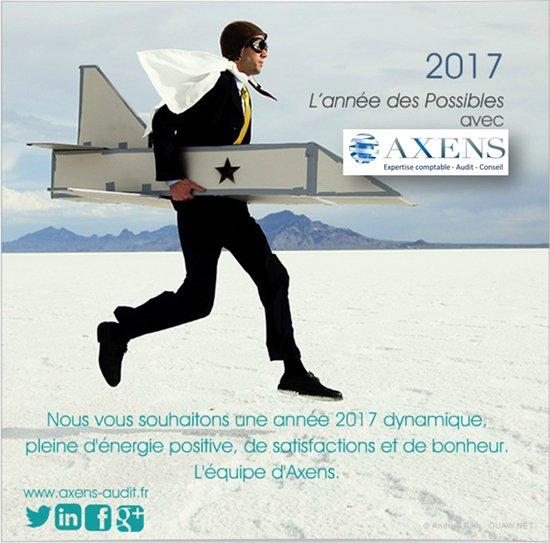 Carte de voeux Axens 2017