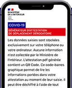 attestation déplacement smartphone